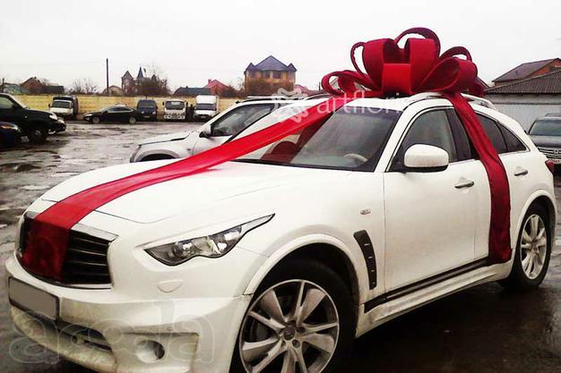 Машина с бантом подарок фото
